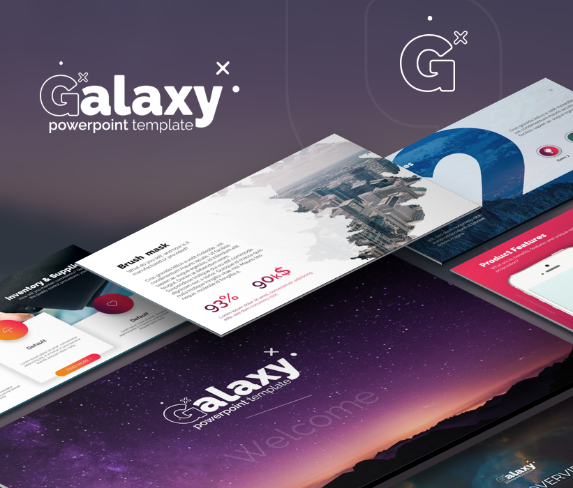 Galaxy Pitch Deck PowerPoint Template
