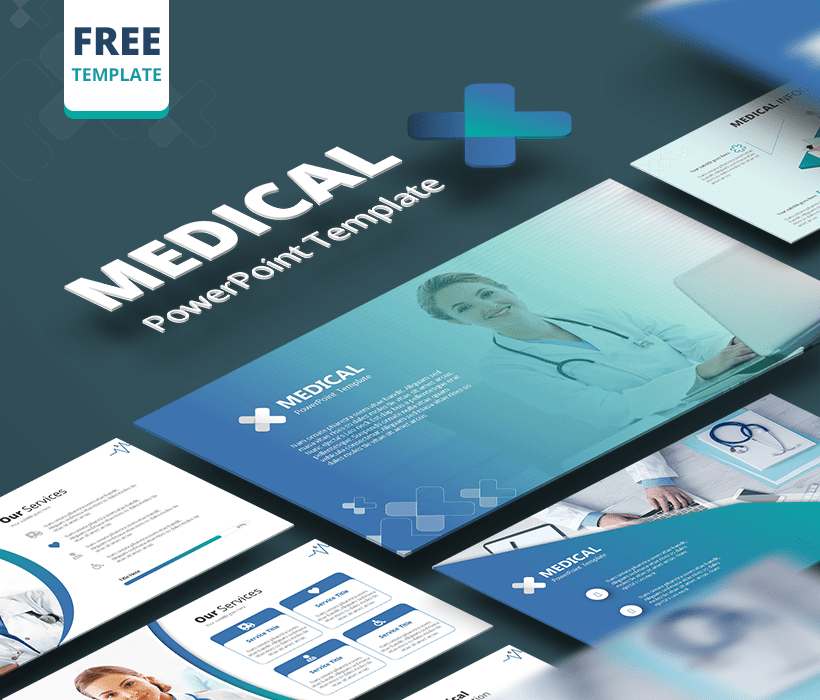 Free medical and healthcare PowerPoint template – medicine slides