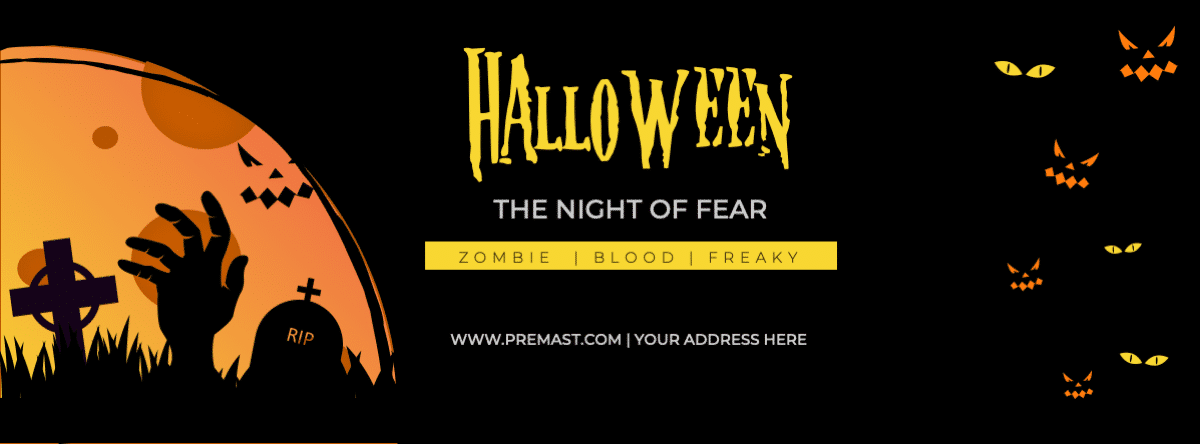Halloween Facebook Cover free powerpoint template