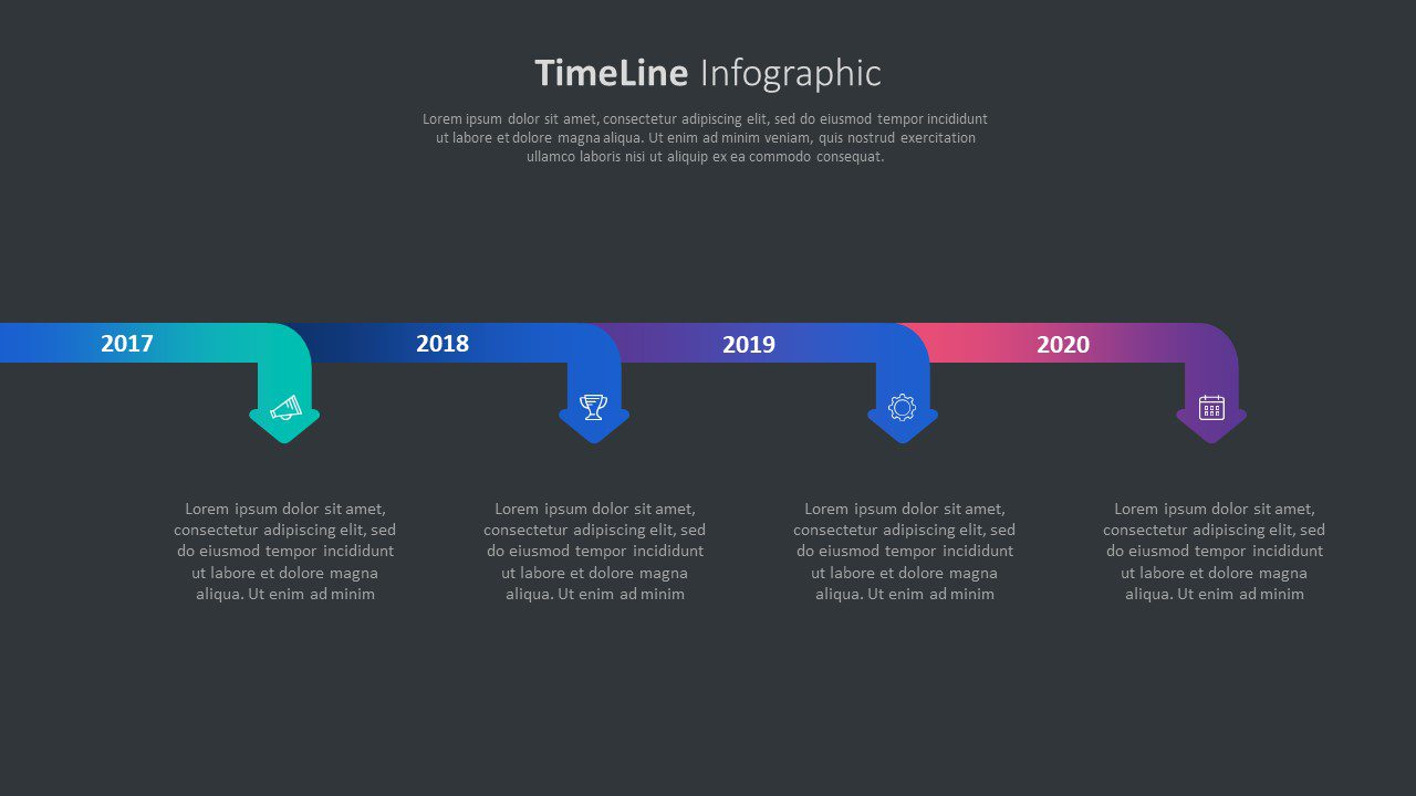 Arrows timeline diagram
