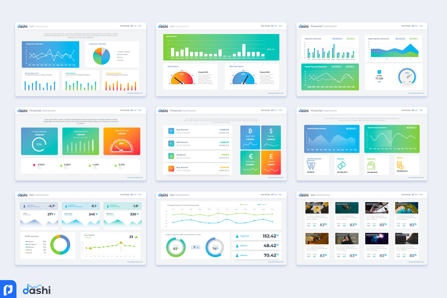 Free Dashboard Powerpoint Template Ppt Presentation