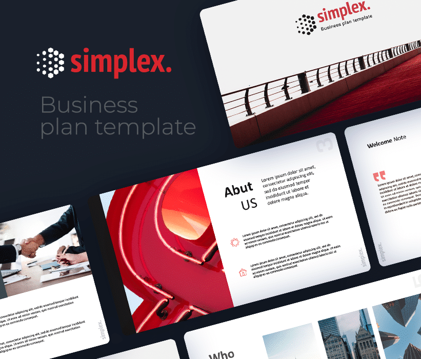 Simplex – Free Minimal Business Plan PowerPoint Template