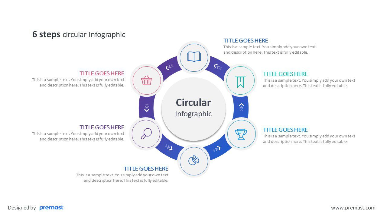 6 steps circular Infographic
