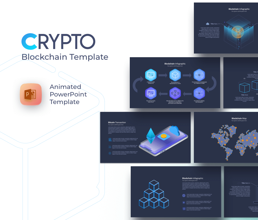 Blockchain & Cryptocurrency PowerPoint Template 💲 Free PPT