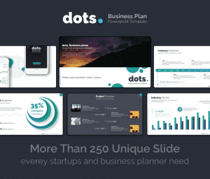 dots Business Plan PowerPoint Template