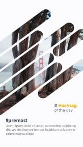 Hashtag of the week instagram story