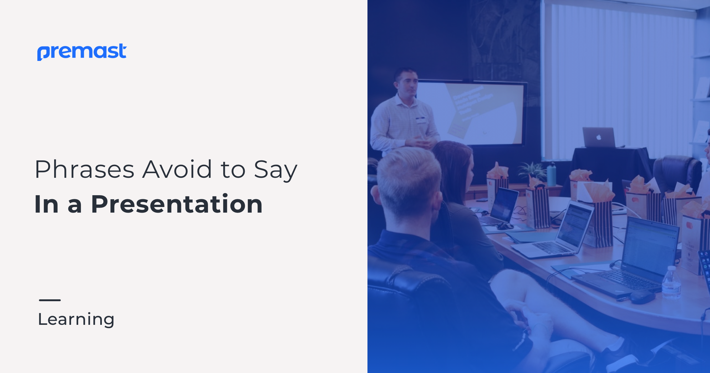 Phrases Avoid To Say In A Presentation