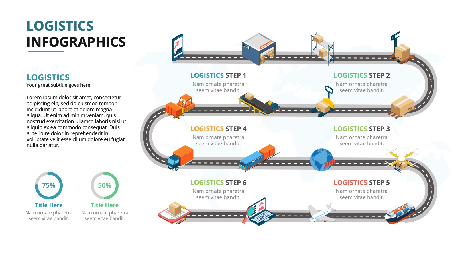 Logistic Infographic powerpoint slide