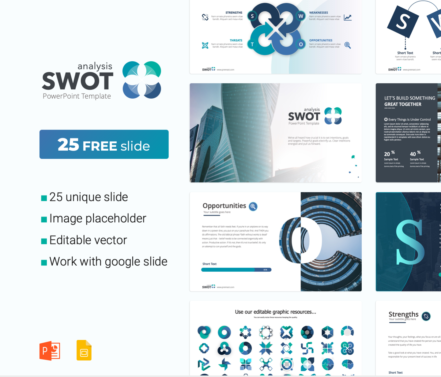 SWOT Analysis PowerPoint Template free PPT Download
