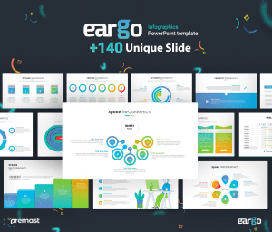 Eargo Infographics PowerPoint Template with 140 Unique Slides