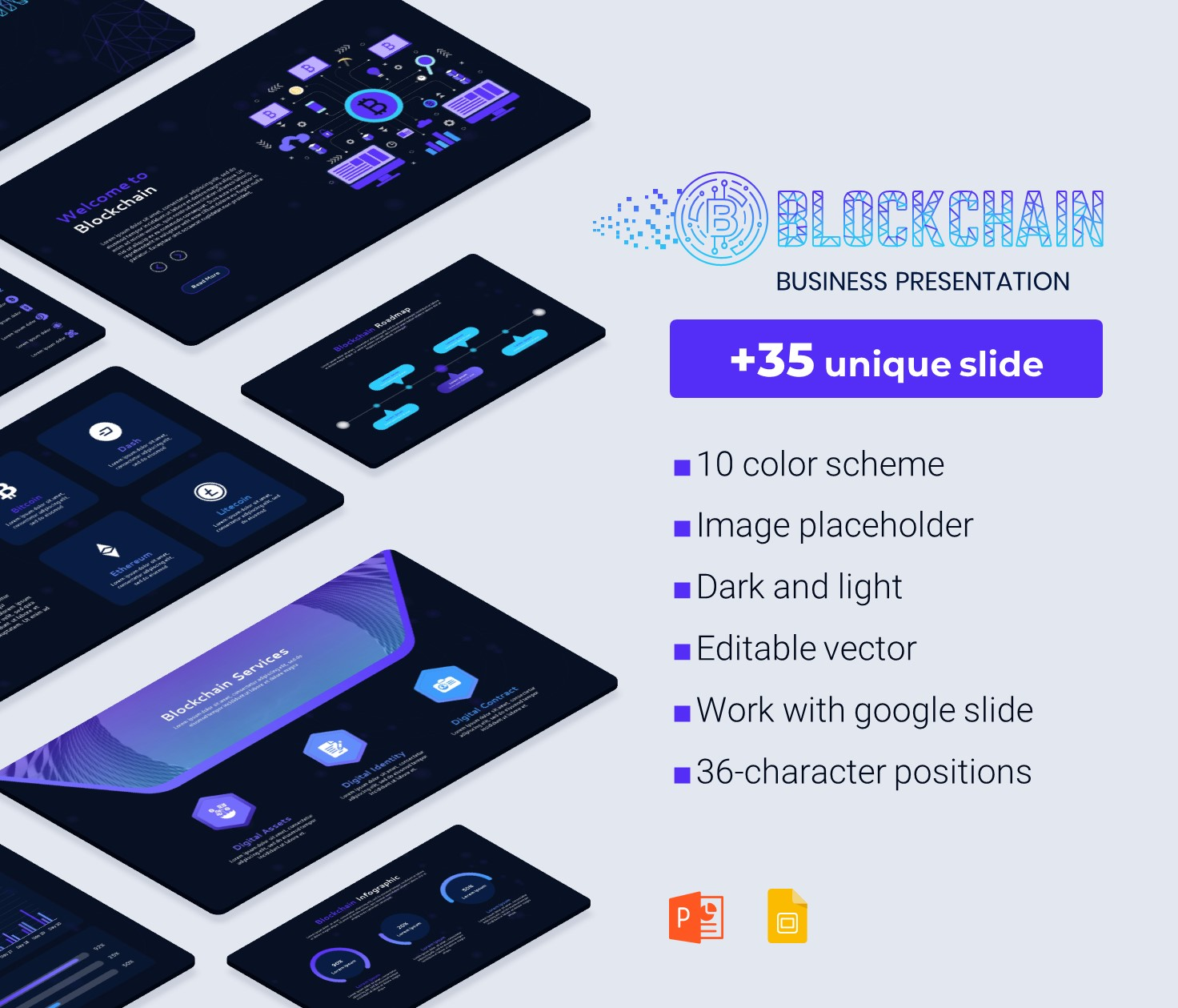 Block-chain PowerPoint business presentation Template