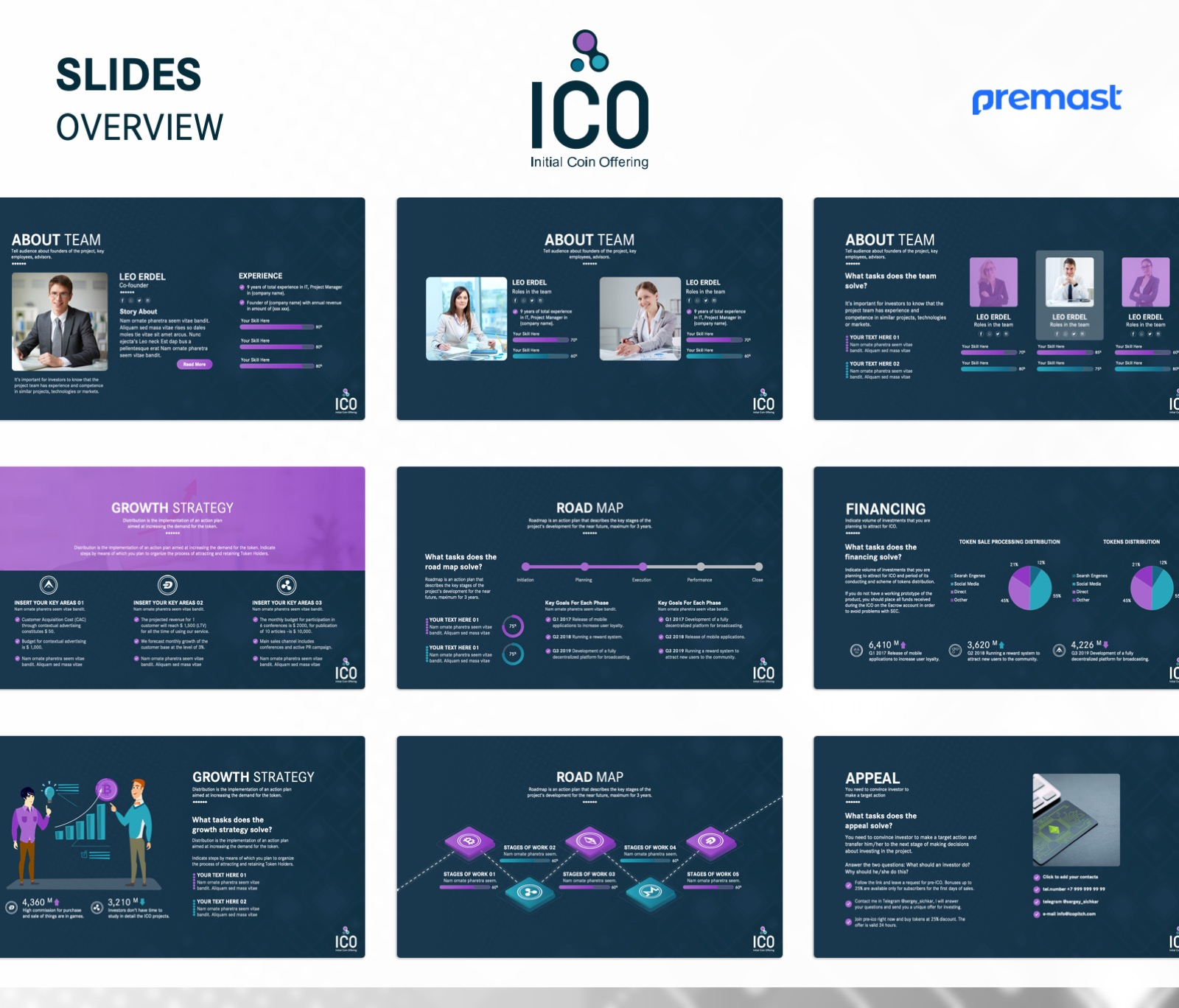 ICO Business Plan Presentation PowerPoint Template