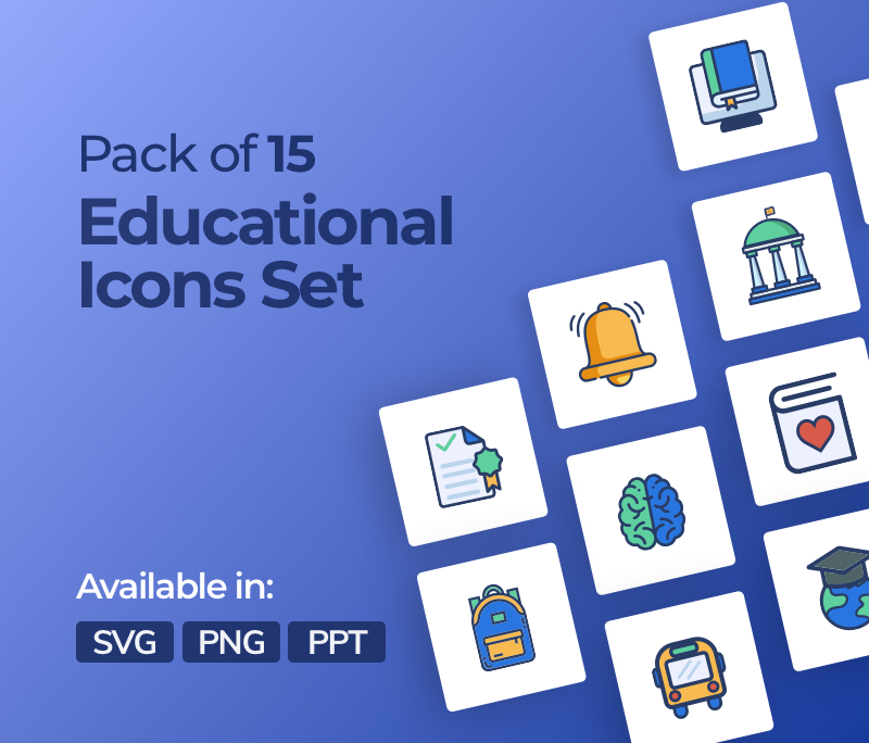 15 Education Icons Pack