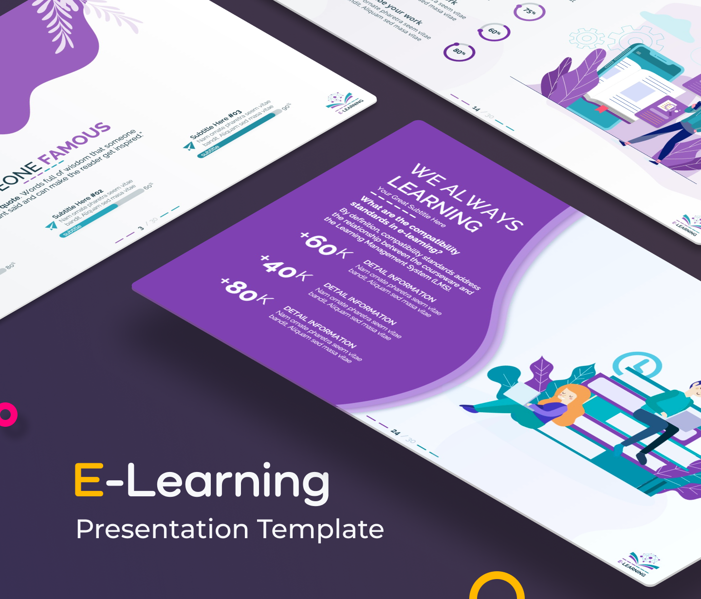 E-Learning PPT Presentation Template
