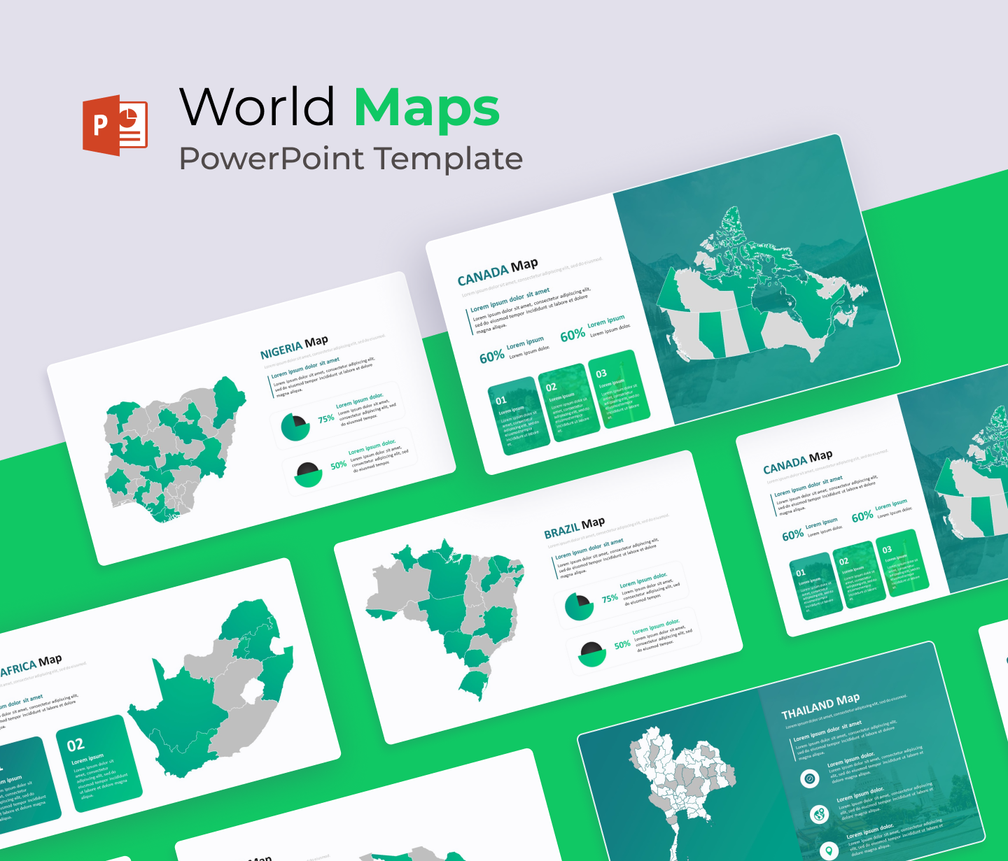 World Map PowerPoint Template | Editable Globe PPT
