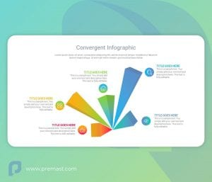 Convergent Infographic with 3D Polygon PowerPoint Shape