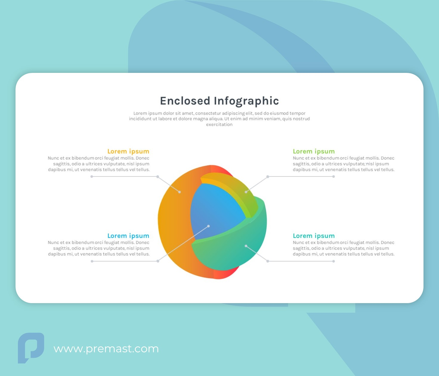 3D Enclosed Infographic PowerPoint - Free SmartArt PPT