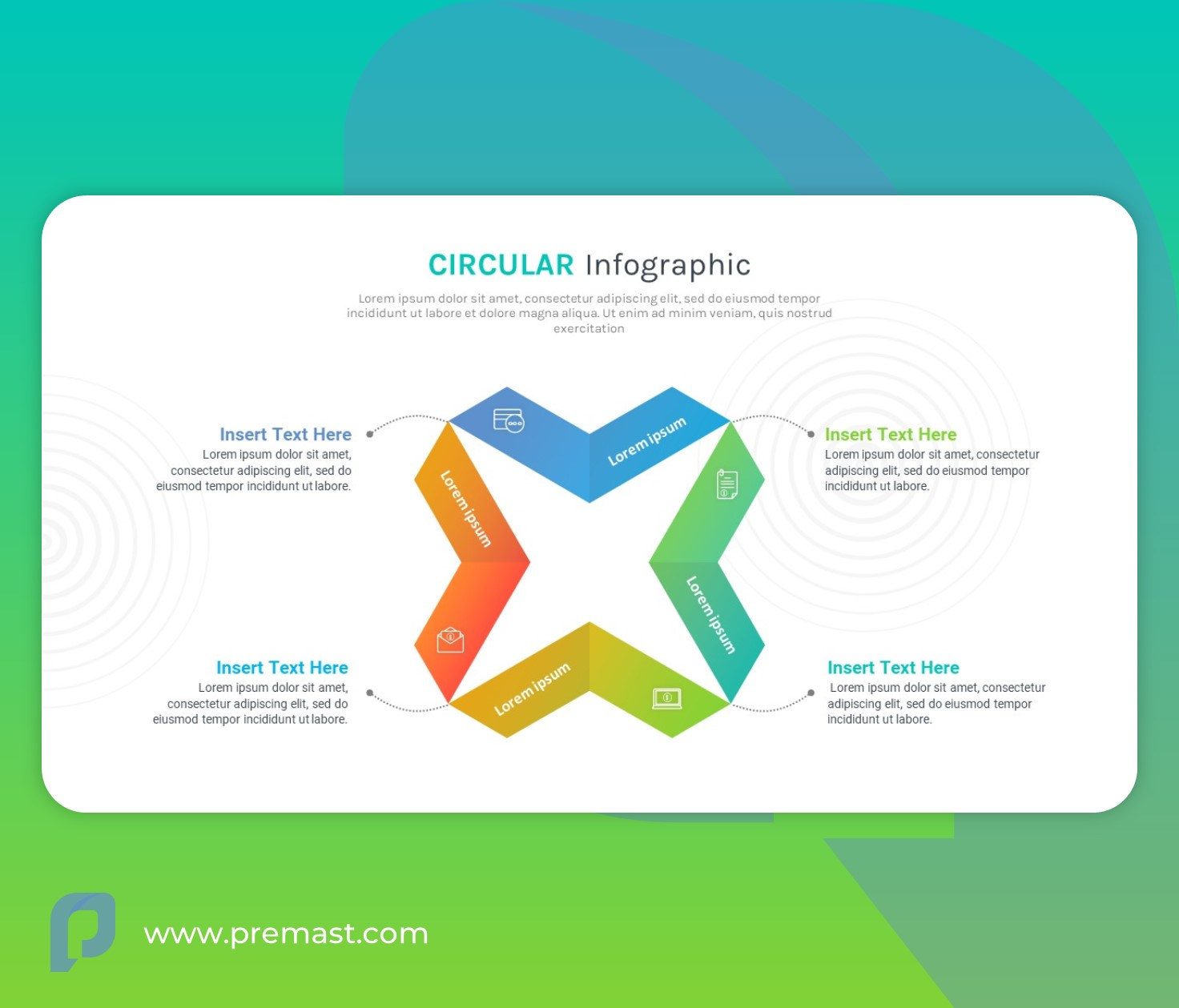 Circular infographic powerpoint template