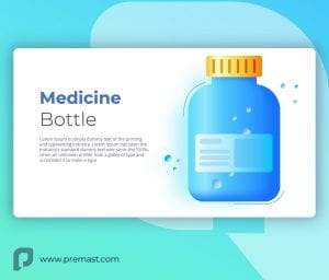 Medicine Bottle powerpoint slide template