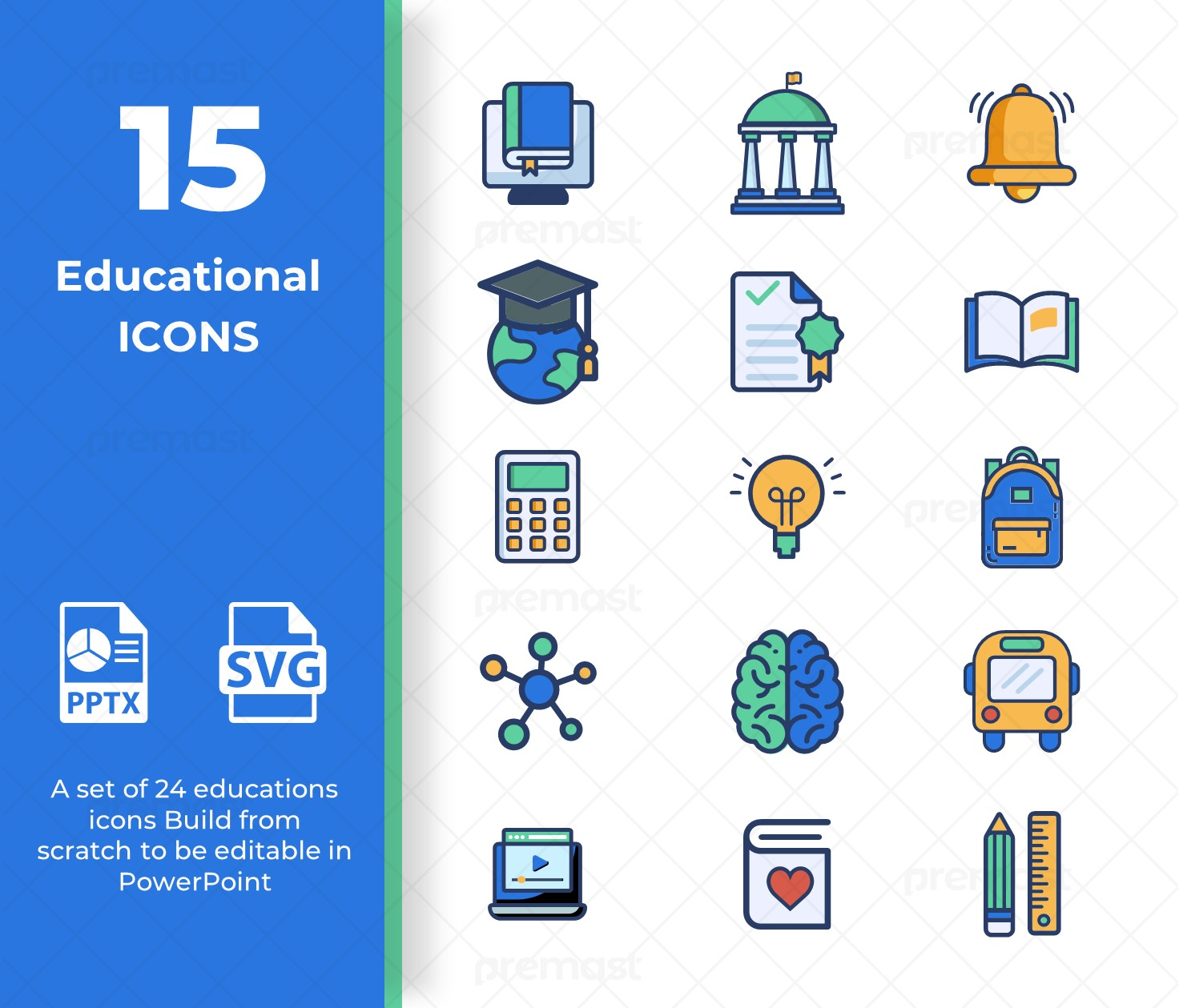 Free 15 Education Icons Pack