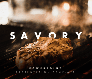 Savory PowerPoint Presentation Template