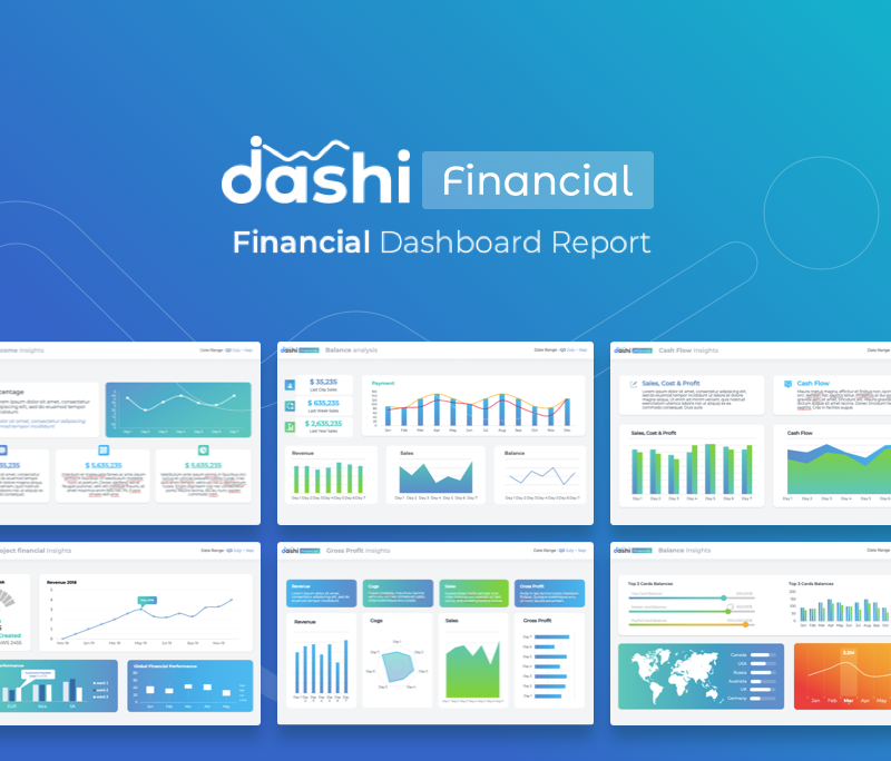 Financial Reporting PPT | Premium Dashboard Template