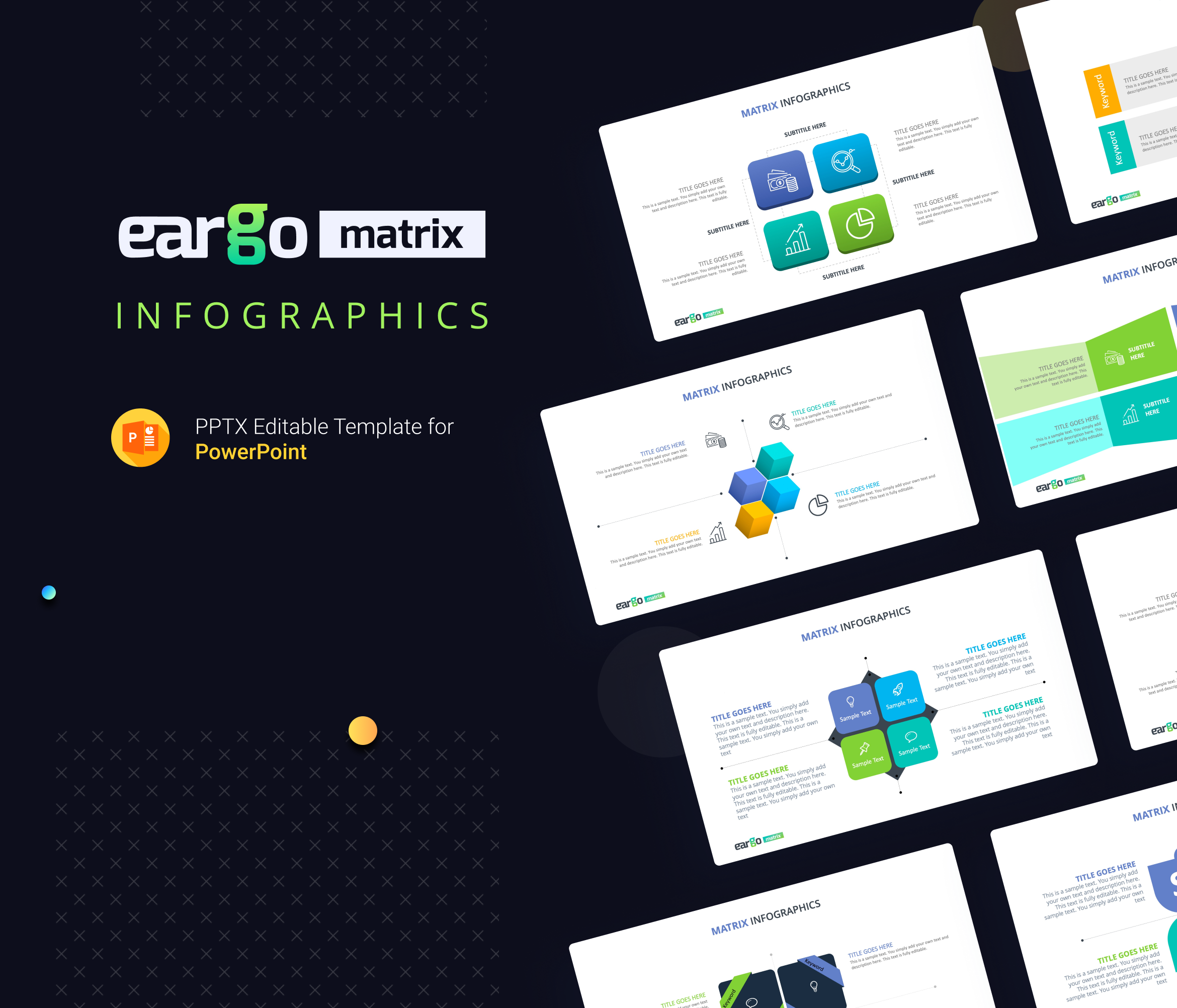 Eargo Matrix Free PowerPoint Template