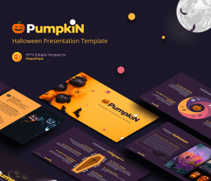 Pumpkin Free Halloween presentation template
