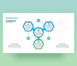Hexagonal Diagram Infographics