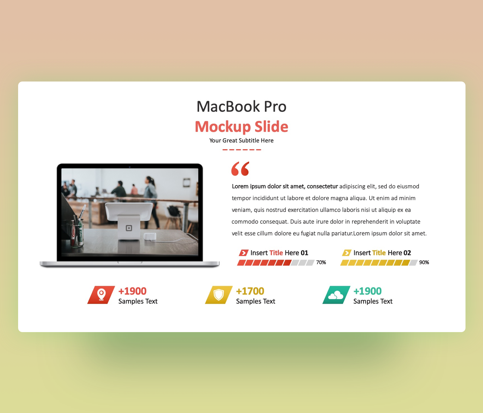 MacBook Pro Mockup PowerPoint Template