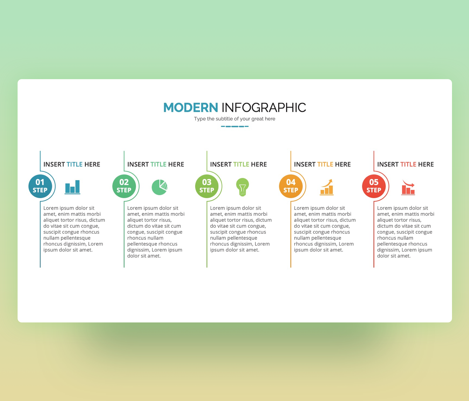 Modern Infographic 5 steps