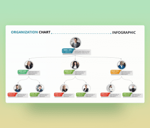 Organization Chart Team – PowerPoint Slide Template