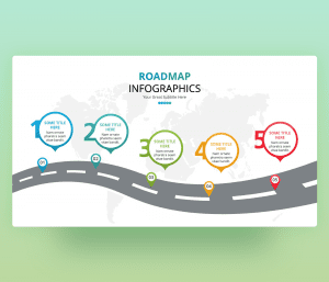 Roadmap Infographics 5 Steps