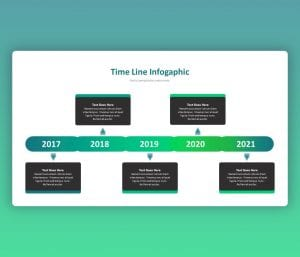 Free Timeline Infographic PowerPoint Slide