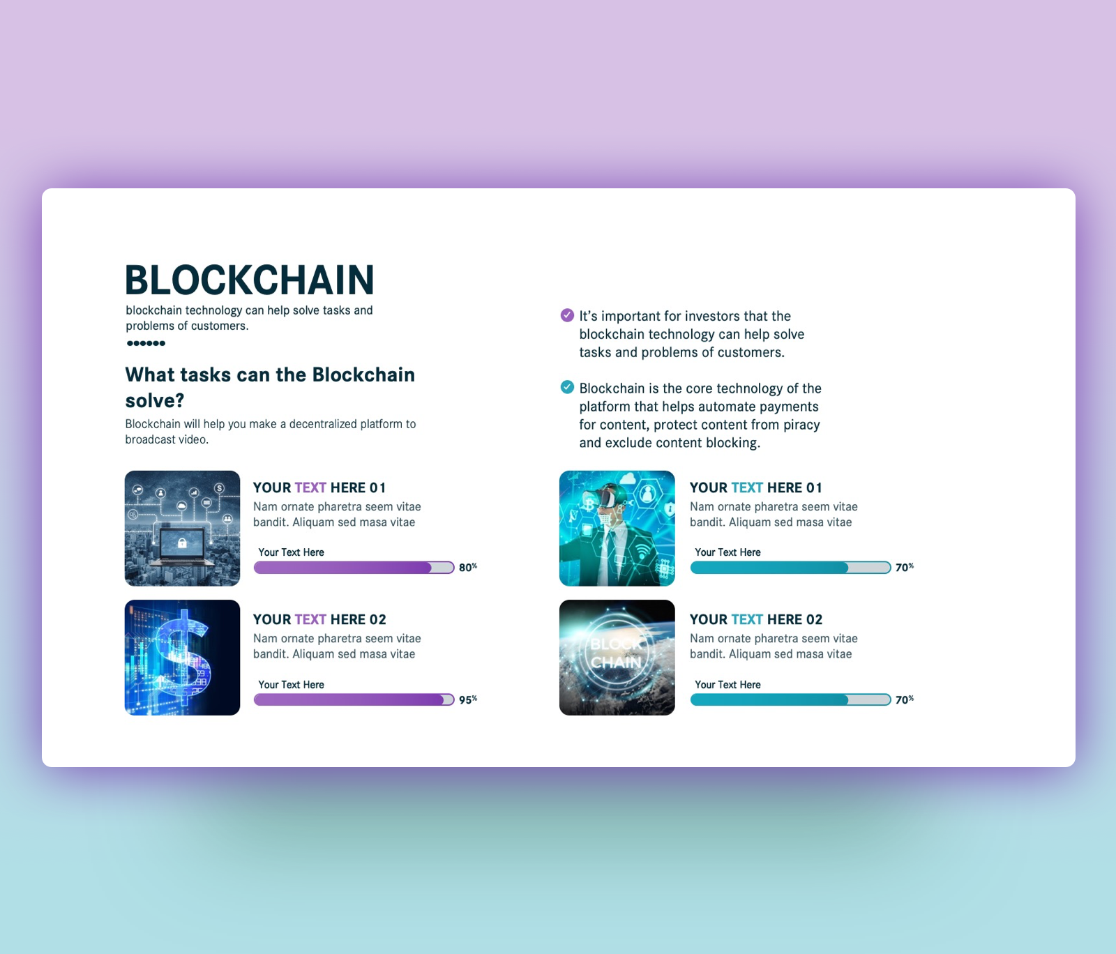 Blockchain Technology PPT Free Template