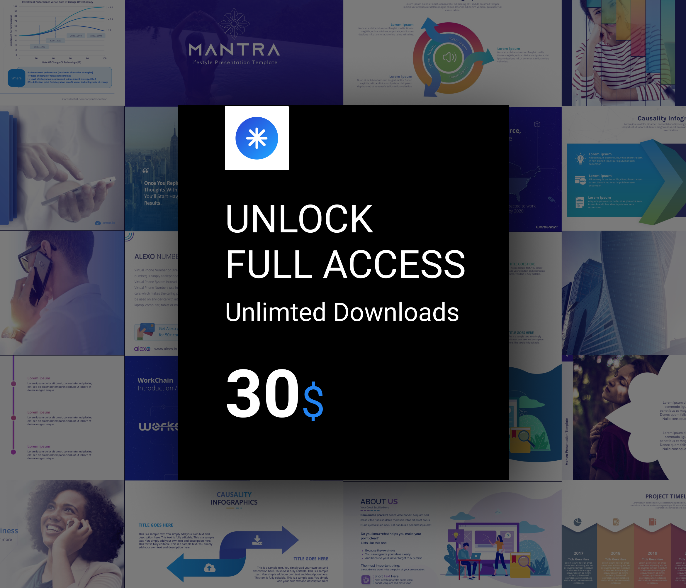 Unlock Full Access - Unlimited downloads