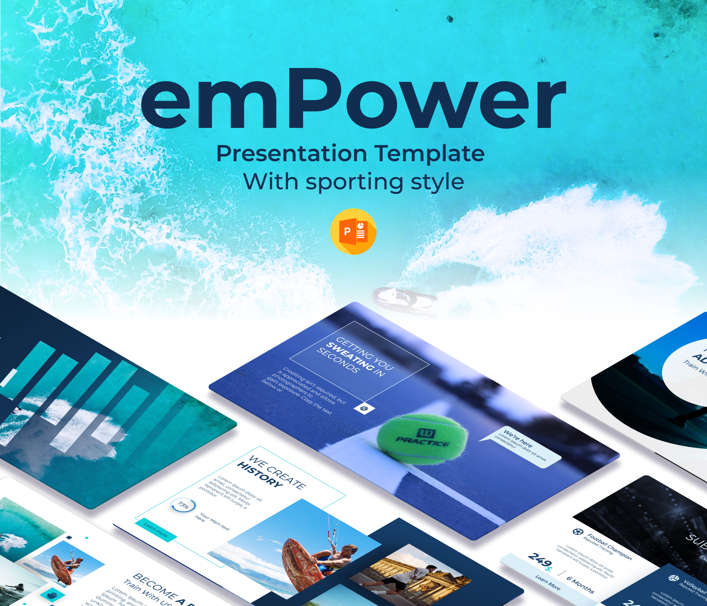 Empower Free Sports PPT Presentation template