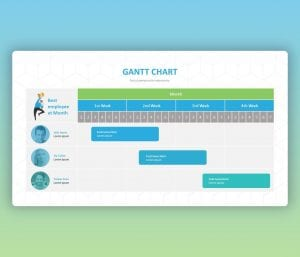 GANTT Chart Free PowerPoint Slide for your Organization Team