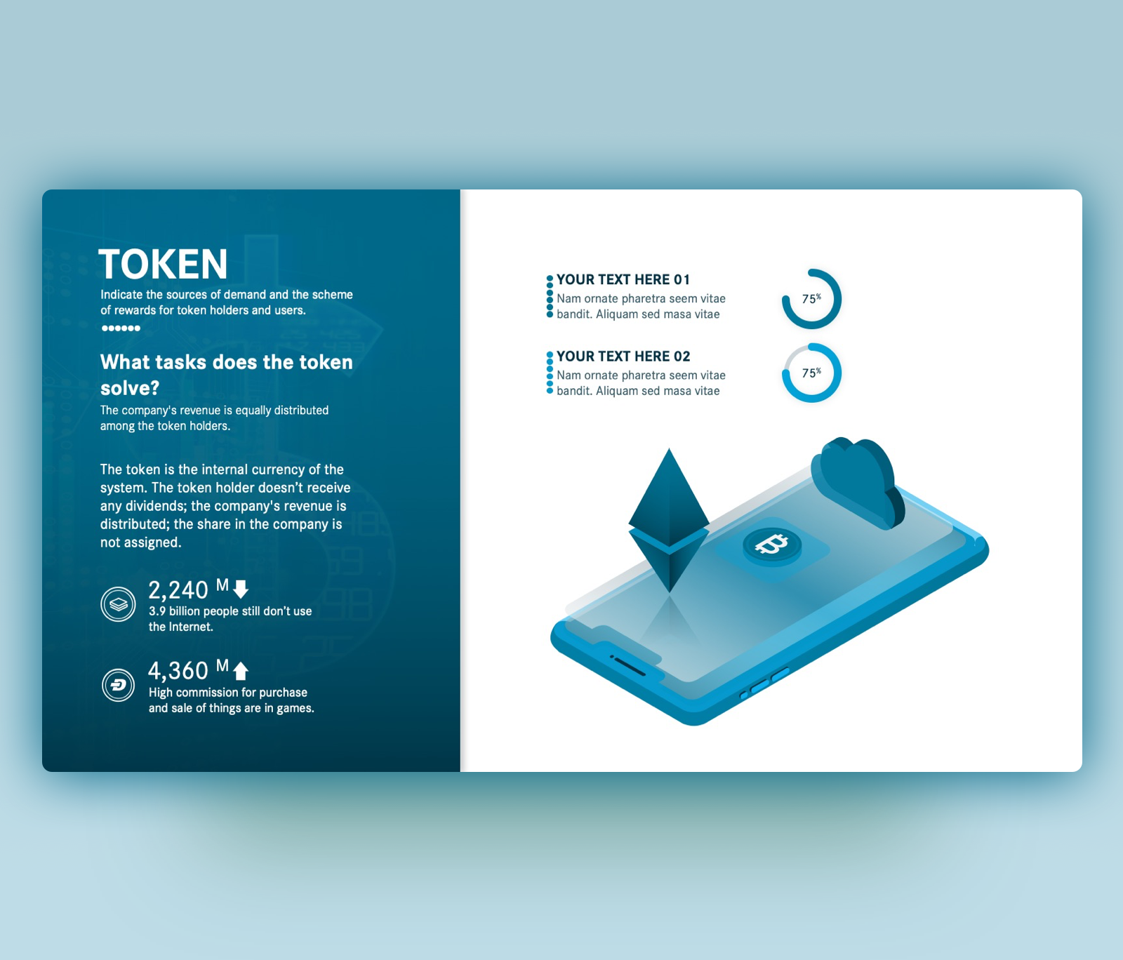 ICO Token – Free Crypto PowerPoint Slide Template