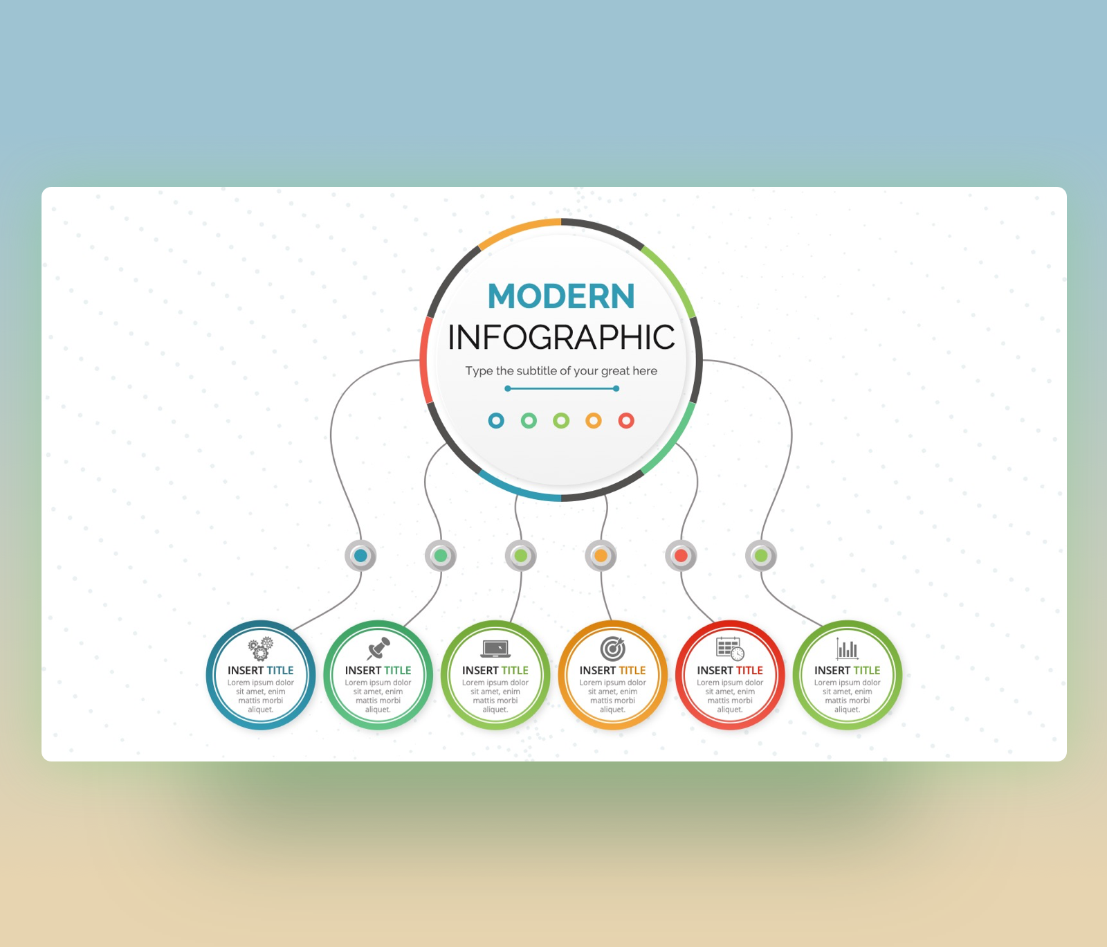 6 Step Circular Infographic PowerPoint Template