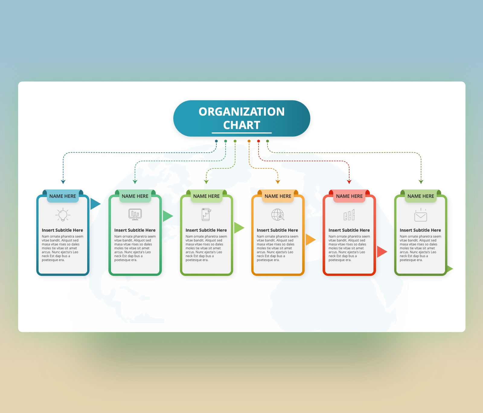 Free Organizational Chart PowerPoint Slide Template