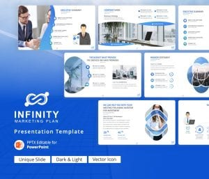 Infinity Marketing Plan PowerPoint Presentation Template