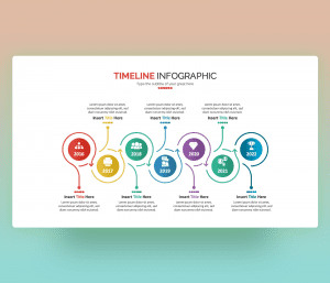 Free Timeline Infographic PowerPoint slide with Circular Design