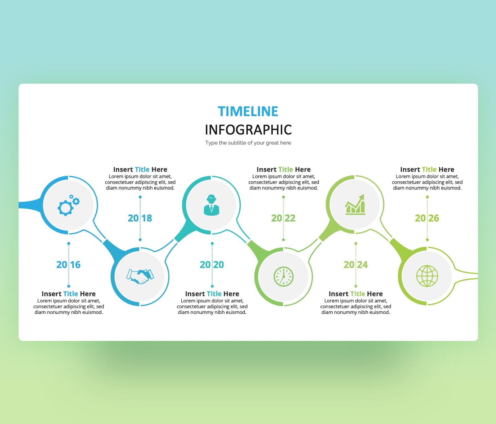 Timeline Infographic Template | Modern PPT Free Download