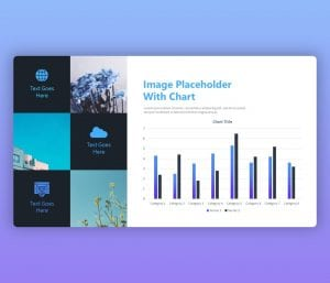 Free Image Placeholder PowerPoint Template with Chart