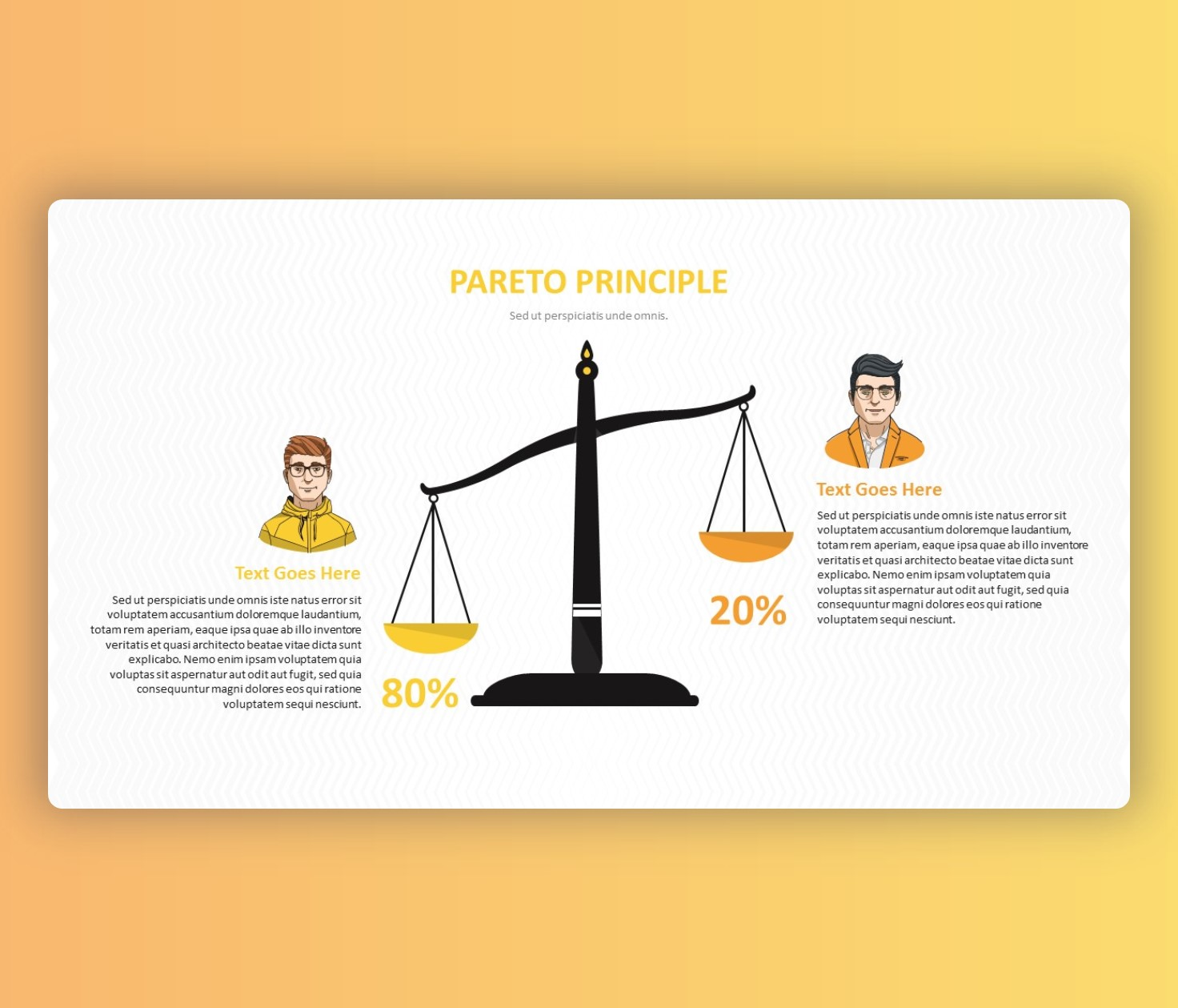 Free Pareto Principle with Scale PowerPoint Template
