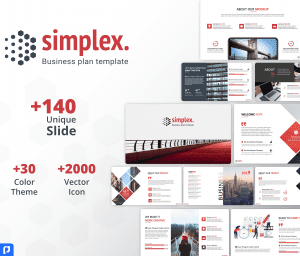 Simplex Business Plan PowerPoint Template
