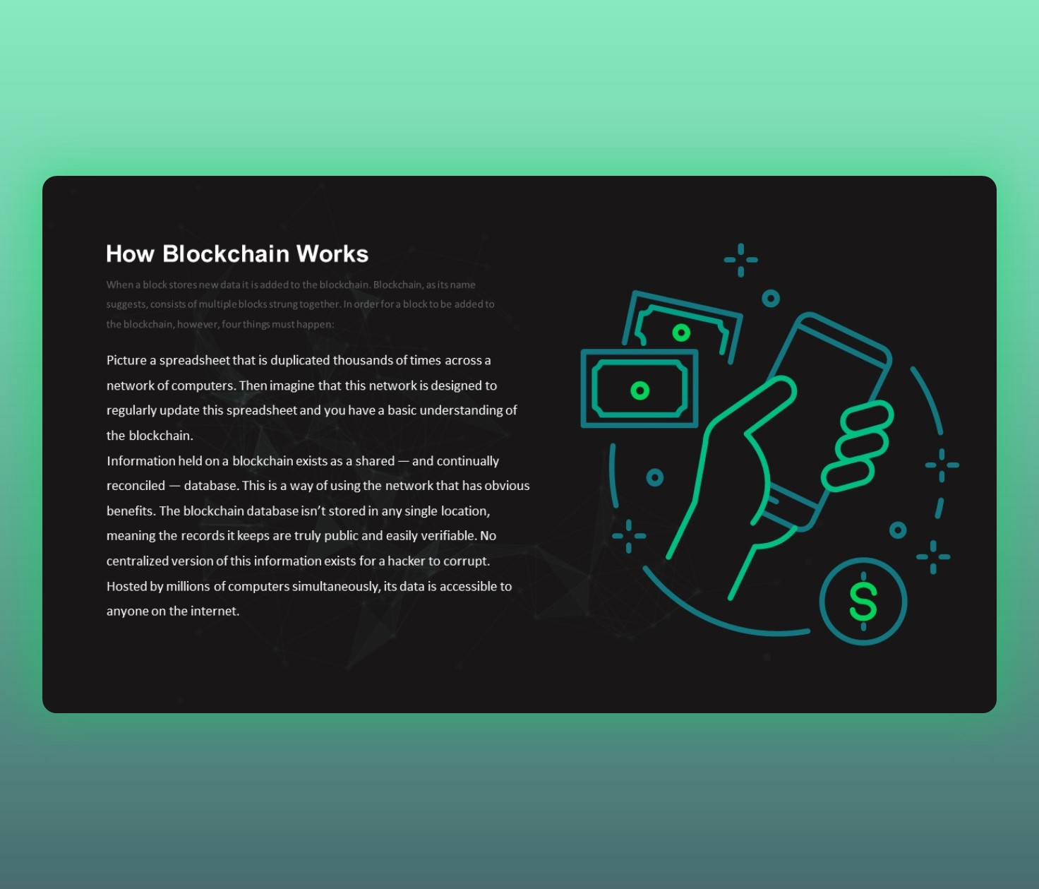 How does Blockchain Works ppt