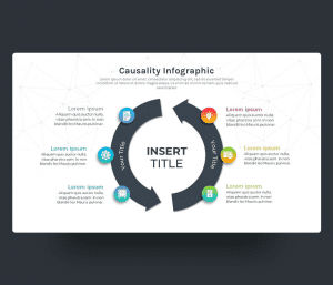 Causality Infographic PowerPoint slide Template