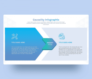 Causality Infographic PowerPoint Template